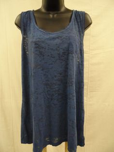 MAURICES Plus Size 1X Top STRETCH Cami BURNOUT Tank Shirt Trendy Sexy Cruise NWT…