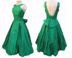 Vintage emerald dress