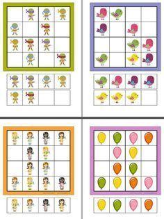 Divertidos sudokus de diferentes niveles More Sudoku Puzzles, Logic Puzzles, Educational Games For Kids, Kids Learning, 1st Grade Math, Montessori Activities, Worksheets For Kids, Animal Worksheets, Math For Kids