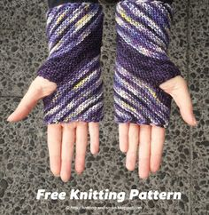 Inclination Wrist Warmers - Free #knitting pattern by Knitting and so on