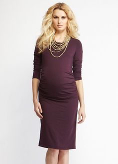 Adore this purple Materni-tee dress.  How could you not look fabulous in this?