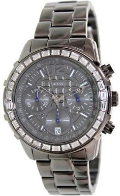 GUESS Men's U0016L3 Black Stainless-Steel Quartz Watch