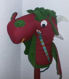 Kinderzimmerdekoration - Steckendrache in Anlehnung an ein Steckenpferd - ein Designerstück von liebfrech bei DaWanda