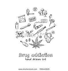 Isolated elements on white background. Tattoo Flash Sheet, Tattoo Flash Art, Doodle Tattoo, Doodle Drawings, Wizard Graffiti, Drugs Art, Graffiti Doodles, Doodle Pages, Sketch Tattoo Design