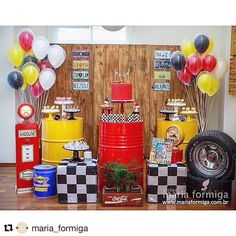 Criativa e charmosa por @maria_formiga #Repost @maria_formiga ・・・ Festa que eu não canso de olhar: tema Carros #festacarros #superpartyideas