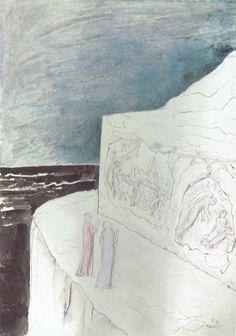 83-Dante e Virgilio contemplano le sculture nella roccia