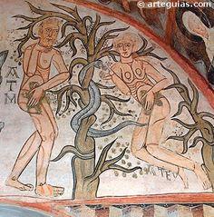 Pinturas murales de la iglesia de la Vera Cruz de Maderuelo: Pecado Original