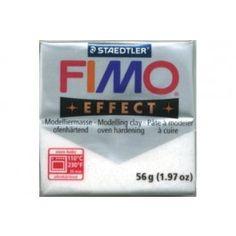 FIMO EFFECT METALLIZZATO BIANCO N.52