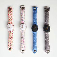 le parfait petit cadeau d'anniversaire : une montre en tissu