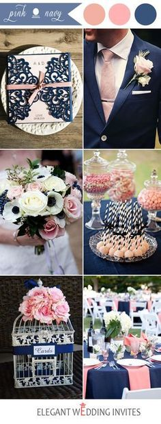 popular navy and pink wedding color ideas dream wedding colors