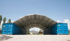 Podroof shipping container roof kits provide durable economic all weather protection for shipping containers as well as a good shelter areabetween.