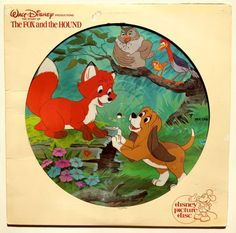 The Fox and The Hound Picture disc Disneyland 31061981 sealed LP Mickey Rooney Kurt Russell Pearl Bailey Jack Albertson Sandy Duncan Walt Disney Animation, Animation Film, Paul Winchell, Disney Animated Classics, Unlikely Friends, Disney Presents, Walt Disney Records, The Fox And The Hound, Vintage Vinyl Records