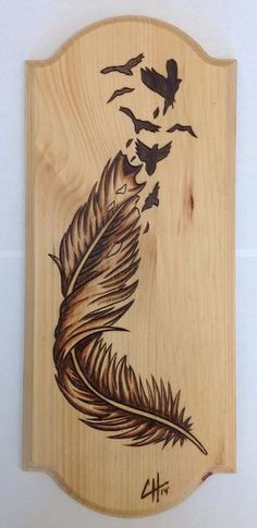 Articles similaires à Birds Of A Feather (Wood Burning / tache peinture) sur Etsy