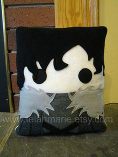 Game of thrones inspired Jon Snow throw pillow