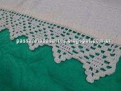 Artes na Passarela: Barrado em crochê branco