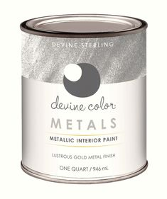 Devine Color Silver Metallic Paint is so easy to use. Available at Target! For painting tips on how to use it see blog at gretchenschauffler.com #targetstyle