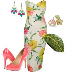 Untitled #158 by tara-nitti on Polyvore featuring Ted Baker, Michael Antonio, Nancy Gonzalez, Salvatore Ferragamo, Lydell NYC and Palm Beach Jewelry