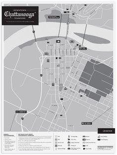 cool map design - wedding invite