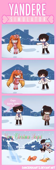 Yandere Comic - Merry Christmas Senpai by DancerQuartz on DeviantArt