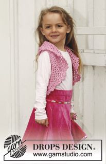 "Crochet DROPS bolero in ""Muskat"". Size 3 - 12 years. ~ DROPS Design"