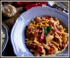 Κοτόπουλο πιπεριές Φλωρίνης με γιαούρτι Kung Pao Chicken, Pasta Salad, Macaroni And Cheese, Main Dishes, Food And Drink, Appetizers, Meat, Cooking, Ethnic Recipes