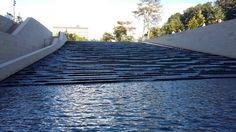 Escalier d'eau Fondation Louis Vuitton, Frank Gehry, Opera House, Building, Travel, Water, Viajes, Buildings, Destinations