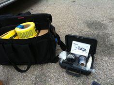 Crime Scene tape and fingerprint kit