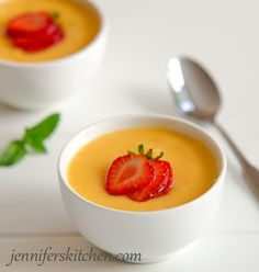 Chilled Peach Soup In search of a recipe to match the soup I had at the Gryphon Tea Room in Savannah,GA.