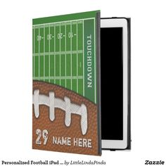 Personalized Football iPad Pro Case or choose for a different device. CLICK:https://www.zazzle.com/z/ov3to?rf=238147997806552929 Cool football field football iPad cases in many styles or I can place this design on thousands of other products or different football cases, phones and more. For help, design or product changes, CALL Zazzle Designer Linda HERE: 239-949-9090 Hundreds more football gift ideas HERE…