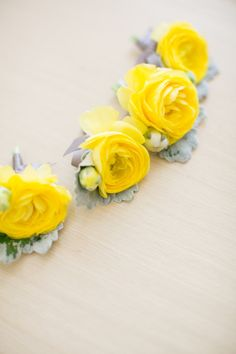 Whimsical NYC Wedding at Battery Gardens from Twah Dougherty Yellow Boutonniere, Groomsmen Boutonniere, Ranunculus Boutonniere, Yellow Wedding Shoes, Yellow Grey Weddings, Floral Wedding, Wedding Flowers, Our Wedding, Dream Wedding
