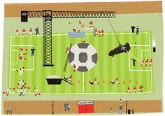 Nicholas Saunders football illustration