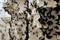 Black Cloud: Carlos Amorales Adorns Gallery Walls with Thousands of Black Paper Moths