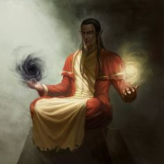 Though the powers of a Wu Jen come from their ancestors, the ancestors can be light or dark. (RPG concept)