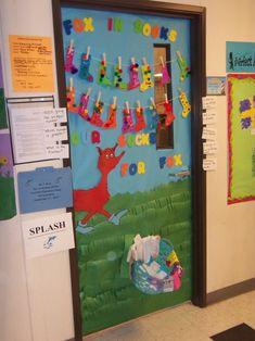 Doors Doors Doors on Dr Seuss Fox In Socks Classroom Door Decoration