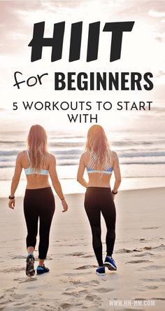 HIIT Workouts for beginners to lose weight! These are 5 beginner-friendly high intensitiy interval training routines that you can do at home or at the gym. HIIT is a type of exercise that allows you to burn fat even after you've done. Fitness Workouts, Hiit Workout At Home, Hiit At Home, Training Fitness, Hitt Workout, At Home Workouts, Workout Plans, Cardio Workouts, Fitness Logo