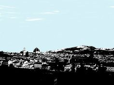 Digitally manipulated photo of Florence, Italy.  Copyright 2014.  All rights reserved.