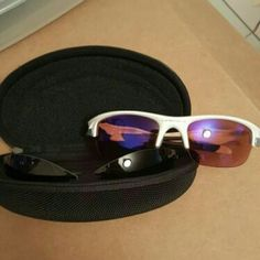 Oakleys sunglasses with extra lenses NWOT. Brand new pair of sunglasses with pair of red lenses and black lenses. Comes with case. Sunglasses Accessories, Oakley Sunglasses, Price Drop, Fashion Design, Fashion Tips, Fashion Trends, Lenses, Pairs, Brand New