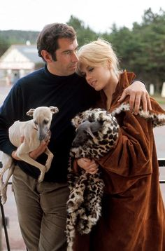When they were young. Jane Fonda and Roger Vadim, France, 1967. I think it's sad how he tried to turn her into another Bridget Bardot, when she had so much more talent than that. - Ronni