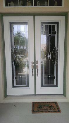 ODL Delray Door Glass Decorative Insert, Double Fiberglass Exterior Doors