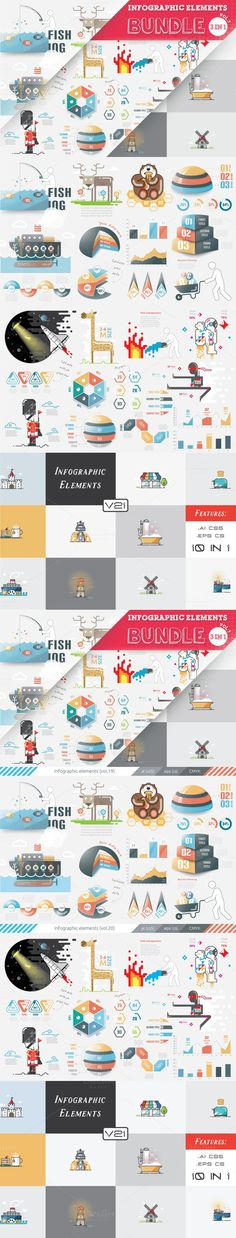 [40% OFF] Infographic Bundle. Graphic Design Infographics. $16.00