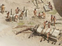 Illustration: Workers building Gobekli