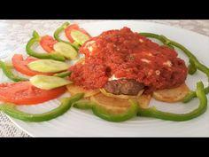 Kebab with sauce & yoghurt (Yogurtlu) - Recipes of Bliss Bliss, Beef, Youtube, Food, Recipes, Meat, Eten, Ox, Ground Beef