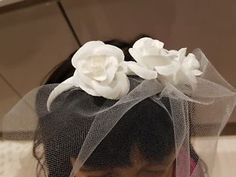 £6.99 buy it now. more than 6 available. Bridal headband with 3 rose and a net veil. White rose medium size and beautiful veil headband. Latest handmade by Gainna Creations 2018.