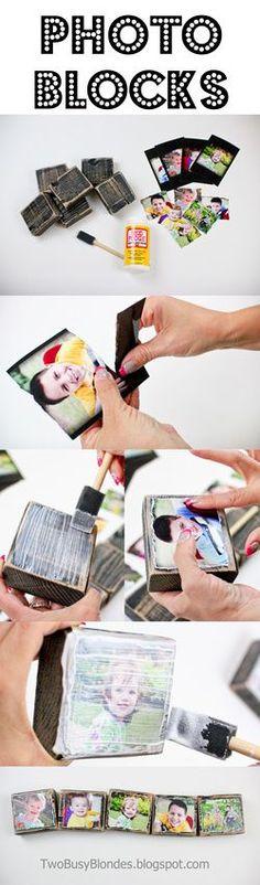 Photo blocks, creative way to display photos CONTINUE:…