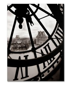 Look at this Chris Bliss Big Clock Gallery-Wrapped Canvas on #zulily today!