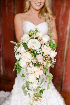 Romantic cascading white bouquet / Seneca Epley Photography