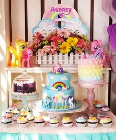 Dessert table from a My Little Pony Birthday Party via Kara's Party Ideas | KarasPartyIdeas.com (22)