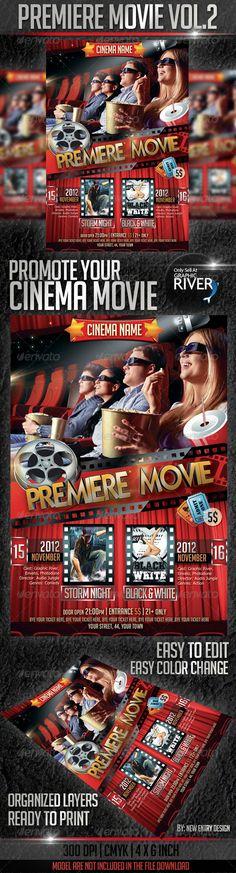 Night Club Party Flyer Bundle Fonts, Festivals and Flyer template - movie night flyer template