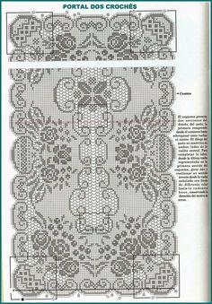 Best 12 Kira scheme crochet: Scheme crochet no. Filet Crochet Charts, Crochet Motifs, Thread Crochet, Crochet Scarves, Crochet Doilies, Crochet Stitches, Knit Crochet, Crochet Flower, Crochet Table Runner