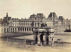 Old Paris, Vintage Paris, Vintage Architecture, Classical Architecture, Palais Des Tuileries, Monuments, Louvre, Triomphe, Second Empire